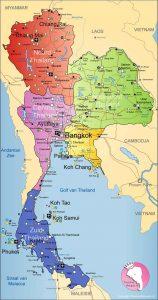 نقشه تایلند