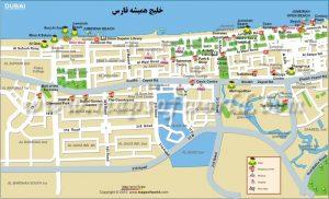 نقشه شهر دبی